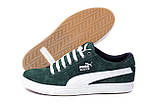 Мужские кожаные кеды Puma SUEDE Green, фото 4