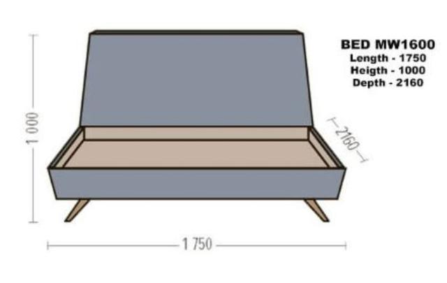 Кровать двуспальная Грей MW1600 (5)