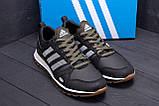 Мужские кожаные кроссовки Adidas A19 Green Star, фото 8