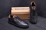 Чоловічі шкіряні кросівки Reebok Black line, фото 9