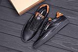 Чоловічі шкіряні кросівки Reebok Black line, фото 10