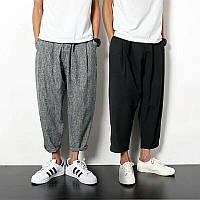 Мужские брюки чинос свободного кроя зауженные с подворотами. Цвета в ассортименте