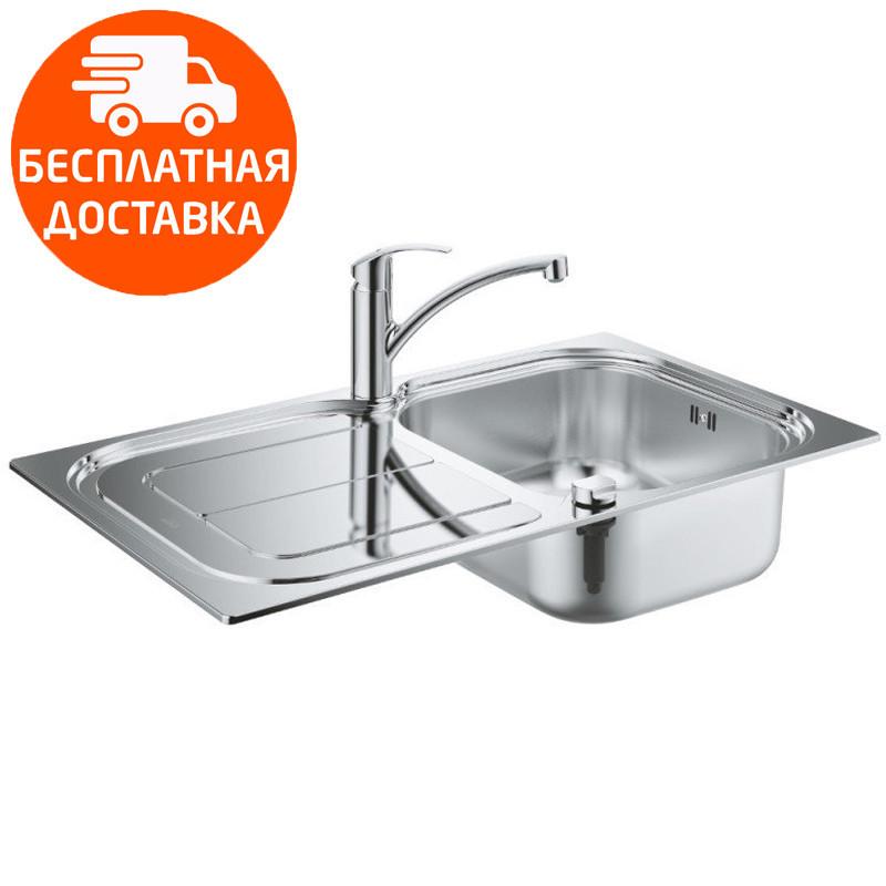 Кухонная мойка + однорычажный смеситель Grohe EX Sink K300 31565SD0 нержавеющая сталь
