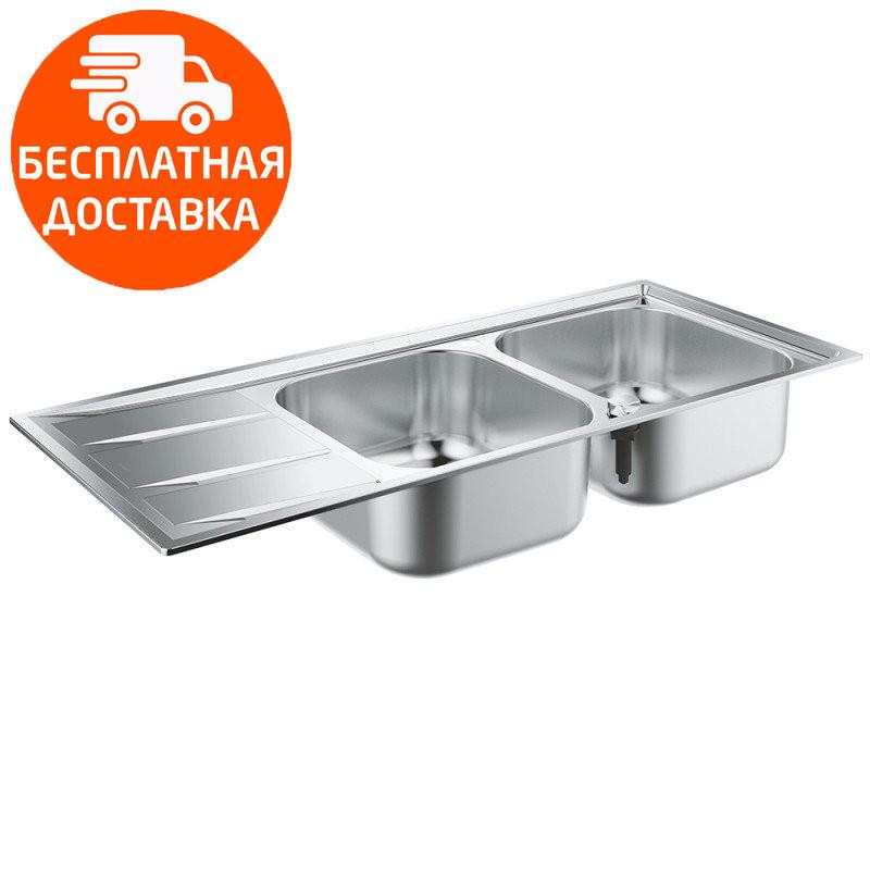Кухонная мойка с двумя чашами Grohe EX Sink K400 31587SD0 нержавеющая сталь