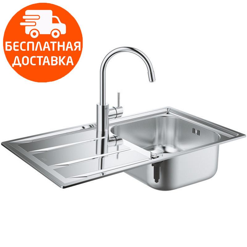 Кухонная мойка Grohe + смеситель EX Sink K400 31570SD0 нержавеющая сталь