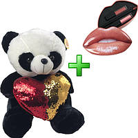 Плюшевая панда в подарочной упаковке + подарок № 1 (L)
