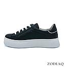 Кеды женские кожаные черные весна - t2165-2 ZodiaQ, фото 3
