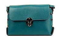 Итальянская женская сумка из натуральной кожи. Цвет: Бирюза, фото 1