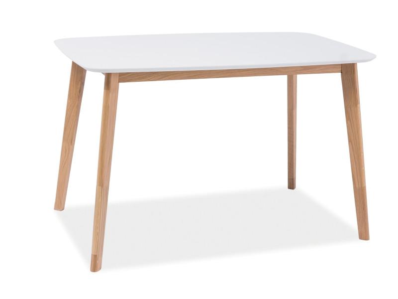 Стол белый/дуб Mosso I 120x75 (Signal)