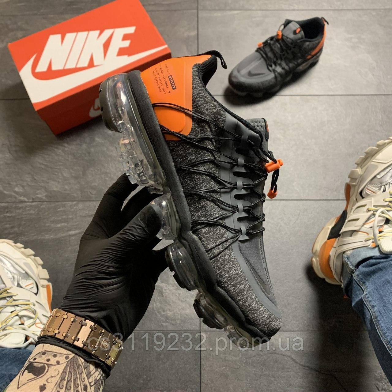Мужские кроссовки Nike VaporMax Utility Black (черные)