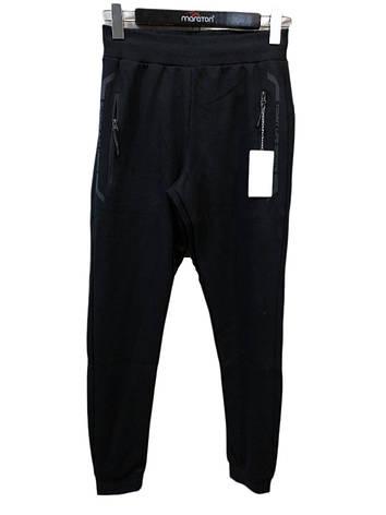 Чоловічі спортивні штанці на манжетах Tommy Life Темно-сині, фото 2