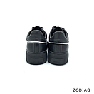 Кеды женские кожаные черные весна - t2165-2-2 ZodiaQ, фото 5