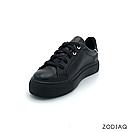 Кеды женские кожаные черные весна - t2165-2-2 ZodiaQ, фото 2