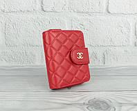 Кошелек кожаный брендовый, картхолдер 5001 красный, 14 отделов для карт, фото 1