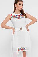 Белое платье с вышивкой в украинском стиле платье вышиванка размер 42-48