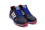 Мужские кожаные кроссовки Adidas Tech Flex Blue, фото 3