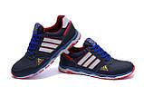Мужские кожаные кроссовки Adidas Tech Flex Blue, фото 4