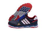 Мужские кожаные кроссовки Adidas Tech Flex Blue, фото 5
