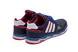 Мужские кожаные кроссовки Adidas Tech Flex Blue, фото 6