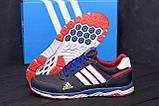 Мужские кожаные кроссовки Adidas Tech Flex Blue, фото 7