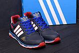 Мужские кожаные кроссовки Adidas Tech Flex Blue, фото 8