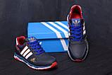 Мужские кожаные кроссовки Adidas Tech Flex Blue, фото 9