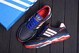 Мужские кожаные кроссовки Adidas Tech Flex Blue, фото 10