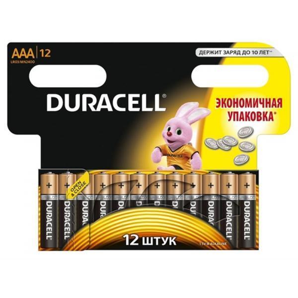 Батарейки DURAСELL Basic AAA 1.5V LR03 12шт. Бельгия (мизинчиковые)