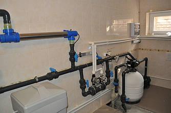 Строительство бассейнов и прудов, монтаж оборудования.