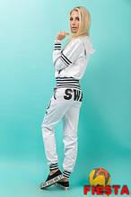 Стильный женский спортивный костюм   SWAG Белый