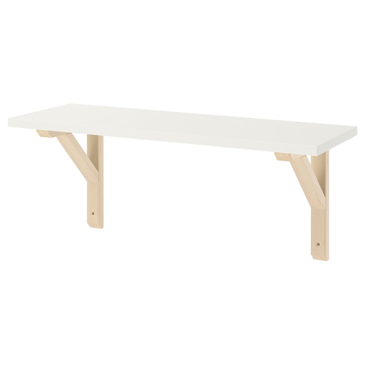 Полка навесная IKEA BURHULT / SANDSHULT белая осина 59x20 см 093.259.81