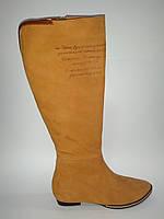 Кожаные женские демисезонные удобные стильные модные сапоги 38р VIZZAVI