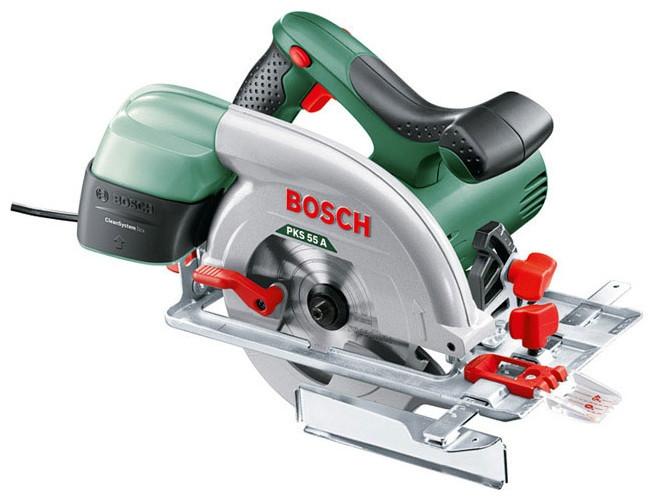 Ручная циркулярная пила Bosch PKS 55 A (1.2 кВт, 150 мм) (0603501020)