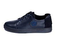 Мужские кожаные кеды ZG GO GO Man Blue spring, фото 1