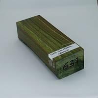 Стабілізована деревина брусок В'яз, RESINOL, 130х45х34, фото 1