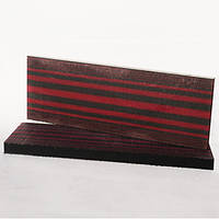 Накладки Микарта  № 92790 полосатик  красн черн  6,2х40х130 мм