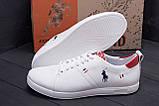 Мужские кожаные кроссовки Polo Clasic White, фото 8