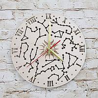 Дерев'яний настінний годинник сузір'я