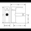 Смеситель для биде черный Genebre Oslo Black 65140 19 41 66, фото 2