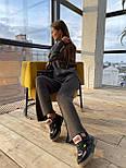 Женский вязаный хлопковый костюм свободного кроя (в расцветках), фото 4