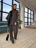 Женский вязаный хлопковый костюм свободного кроя (в расцветках), фото 6