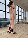 Женский вязаный хлопковый костюм свободного кроя (в расцветках), фото 9