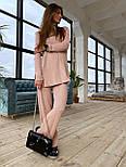 Женский вязаный хлопковый костюм свободного кроя (в расцветках), фото 10