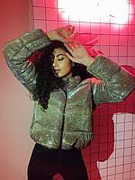 Женская куртка с блестками, размер 42-44, 44-46