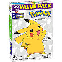 Желейки Pokemon Fruit Flavored Snacks Assorted 454g