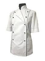 Китель повара женский белый с коротким рукавом Atteks - 00975