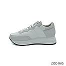 Кроссовки женские кожаные/замшевые белые весна - t8121-0-90 ZodiaQ, фото 3