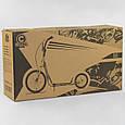 Двоколісний дитячий самокат металевий для хлопчика Corso МХ 30609, колеса надувні, ручного гальма, синій, фото 6