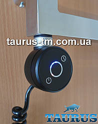 """Чёрный электроТЭН TERMA DRY Black для полотенцесушителя с таймером 1-5 часов + регулятор + LED. Польша 1/2"""""""