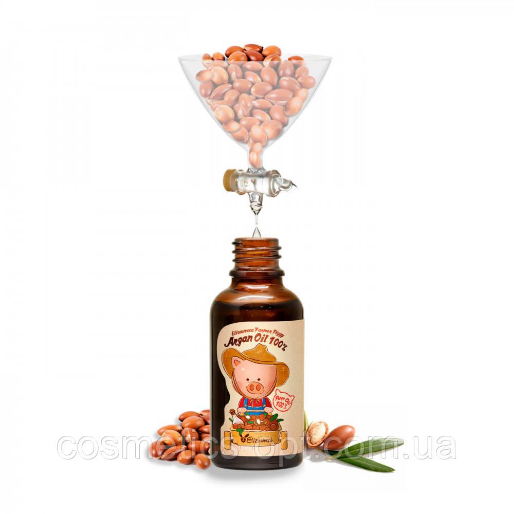 Сыворотка для лица ELIZAVECCA FARMER PIGGY ARGAN OIL 100%, 30 ml